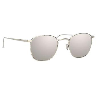 Linda Farrow SIMON LFL479 SUN C2 White Gold/Platinum Sunglasses