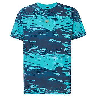 Oakley Mens Water Print Short Sleeve Lightweight T-Shirt