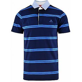 GANT GANT camisa rugger polo de rayas en azul marino