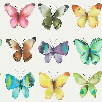 Butterflies Wallpaper Multi Rasch 273601