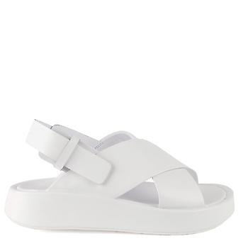Ash VERDI White Leather Flatform Sandals