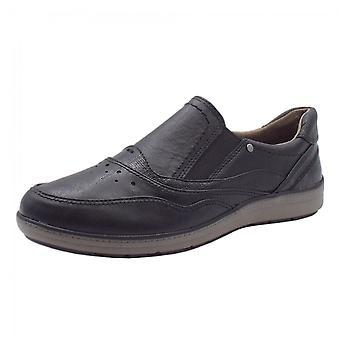 Soft Line 24661 Dabber Wide Fit Smart Loafers In Black