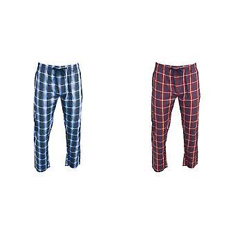 Foxbury Mens Checked Pyjama Bottoms