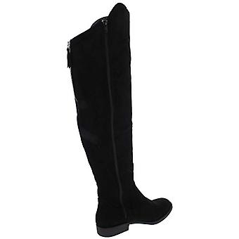 Style et Co. Femmes Hayley Faux Suede Zipper Riding Boots Black 8.5 Medium (B,M)