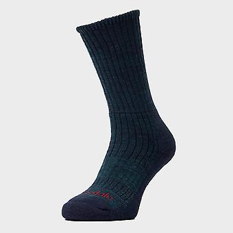 Nieuwe Bridgedale heren wandeling Midweight comfort sokken donkergroen