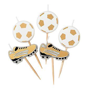 Fotballparty Champions Stearinlys x 5 Fotball og Støvel