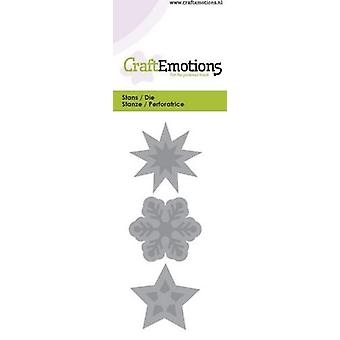 CraftEmotions يموت -- نجمة ، كريستال بطاقة 5x10cm