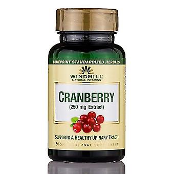 Windmill cranberry, 250 mg, extract, capsules, 60 ea