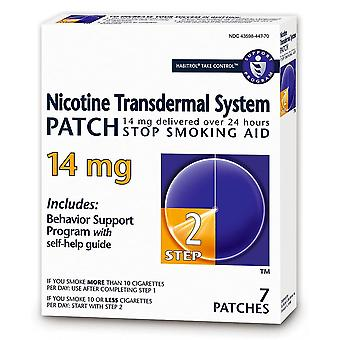 Habitrol nicotine transdermal system patches, 14 mg, step 2, 7 ea