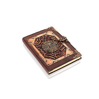 Äkta läderbunden Tree of Knowledge journal notebook av Woodland Leathers