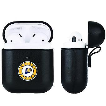 Indiana Pacers NBA Fan Brander Black Leather AirPod Case