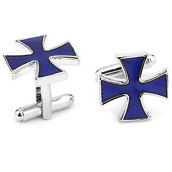 Enamel cross knights templar cufflinks