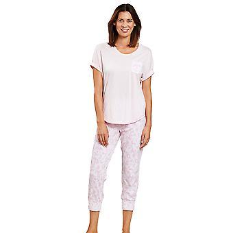 1203053-11574 Women-apos;s Smart Casual Pink Camouflage Floral Pyjama Set