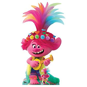 Princess Poppy with Ukulele Official Trolls World Tour Cardboard Cutout / Standee