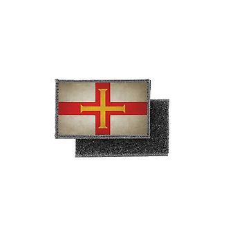 Patch ecusson imprime badge vintage drapeau guernesey