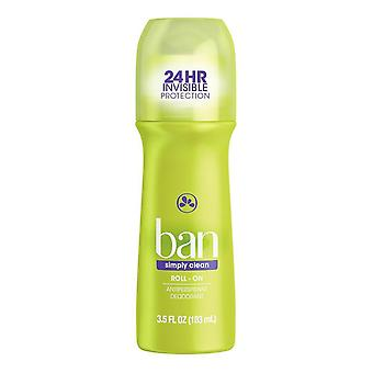 Ban roll-on tout simplement nettoyer déodorant, 3,5 oz