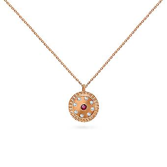 Necklace Clovis 18K Gold and Diamonds with Ruby | Emerald | Sapphire