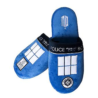 Doctor Who Adult TARDIS Mule Slippers  - ONE SIZE