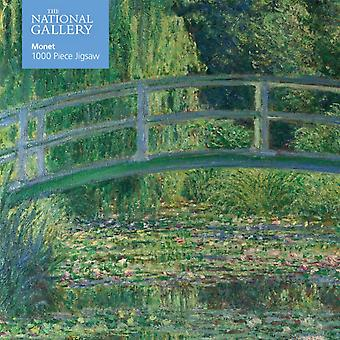 Adult Jigsaw Puzzle National Gallery Monet Bridge over Lily