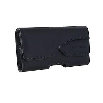 Verizon Universal Horizonal Leather Pouch for Most Small Mobile Devices - Black