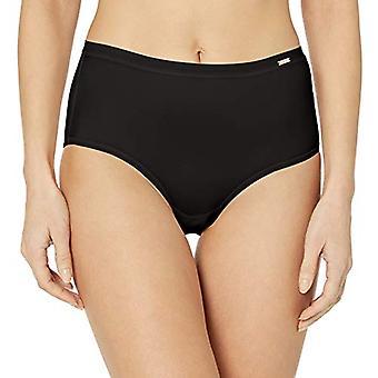 Le Mystere Women's Infinite Comfort Brief Panty, Black, L/XL
