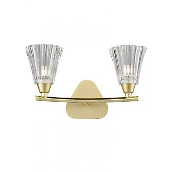 Clemmy Golden Wall Light 2 Bulbs