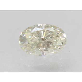 Certified 0.73 Carat H Color VVS2 Oval Enhanced Natural Diamond 6.76x4.64mm