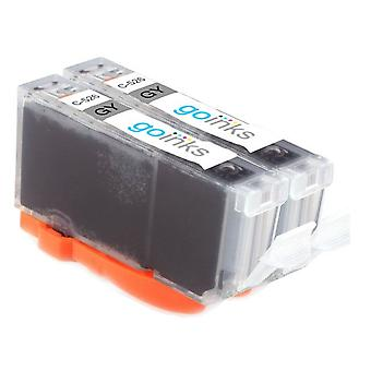 2 Grey Ink Cartridges to replace Canon CLI-526GY Compatible/non-OEM from Go Inks