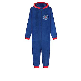 PSG FC Official Football Gift Boys Kids Pyjama Sleepwear Hooded All-In-One