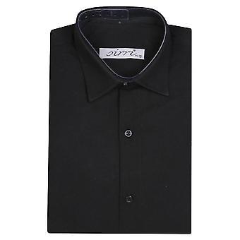 Boys Sirri Classic Long Sleeve Black Shirt