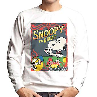 Peanuts Snoopy The Great King Of Cards Men's Sweatshirt