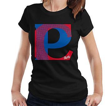 Pepsi Cola Retro Pop Art Schriftzug Frauen's T-Shirt