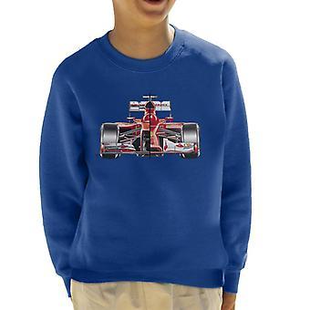 Motorsport Images Ferrari F14 T Comparison With F138 Kid's Sweatshirt