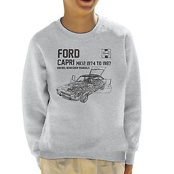 Haynes propietarios 0283 Manual de taller Ford Capri Mk12 negro sudadera infantil