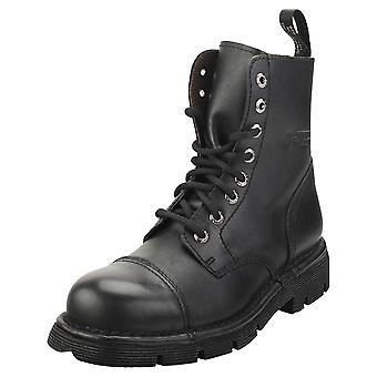 New Rock Mili083-s1 Unisex Casual Boots in Black