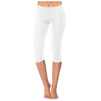 Cropped Girl 3/4 Length Cotton Plain Kids Capri Leggings Age 2-11