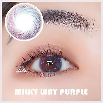 Starry Blue Colored Contact Lenses Cosmetic Contacts Natural Color Lens Beautiful Pupil Ce