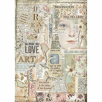 स्टैम्पेरिया चावल कागज A4 प्यार कला