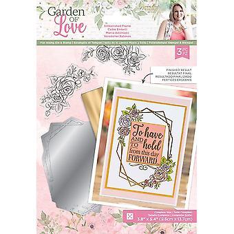 Crafter's Companion Garden of Love Foil Stamp Die and Stamp Set Embellished Frame