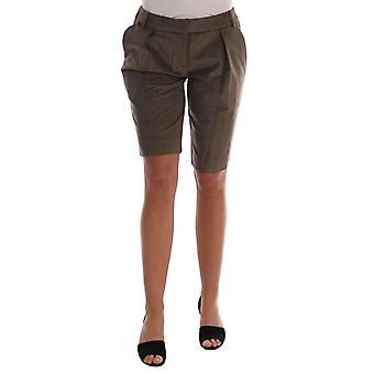Brown Velvet Bermuda Shorts -- BYX1371696