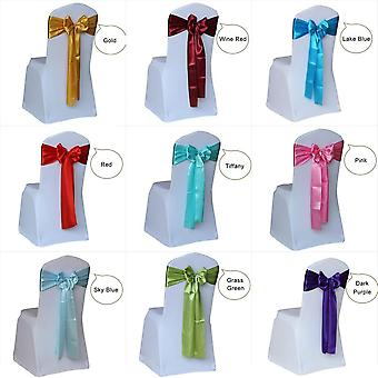 Satin Wedding Chair Sash Bow Tie Ribbon Bands For Wedding Hotel Party
