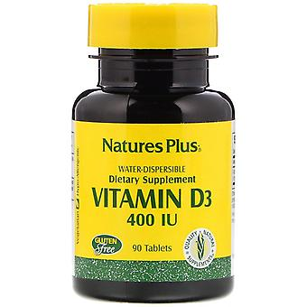 Nature's Plus, Vitamin D3, 400 IE, 90 tabletter