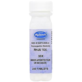 Hyland's, Rhus Tox. 30X, 250 Tablets