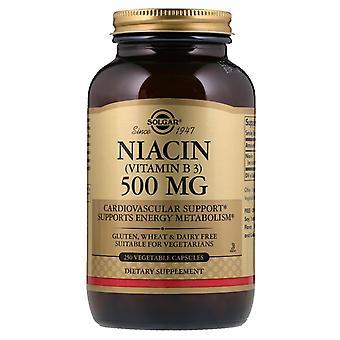 Solgar, Vitamina B3 (Niacina), 500 mg, 250 Cápsulas Vegetales