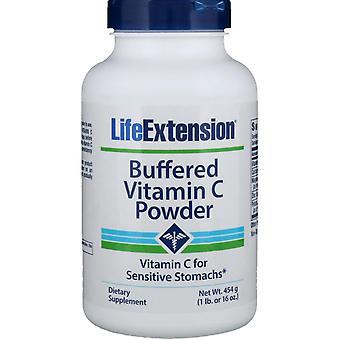Extensión de vida, Polvo de vitamina C tamponado, 16 oz (454 g)