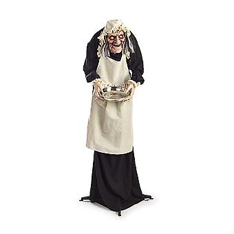 Animated Scary Maid Halloween Trick Or Treat Prop