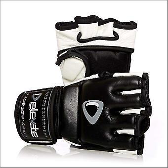 Elevate 4oz fight gloves 2-tone - black white
