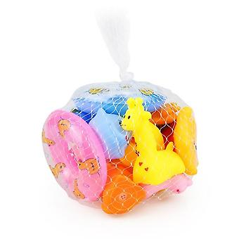 Animals Swimming Water Toys For Kids - Mini Colorful Soft Floating Duck With Squeeze Sound