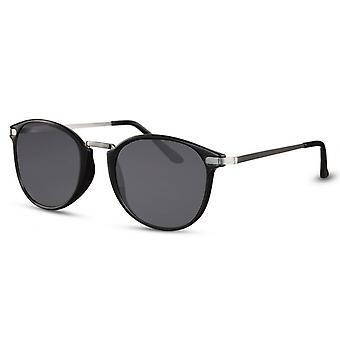 Okulary przeciwsłoneczne Unisex Panto czarno-srebrne/dym (CWI2478)