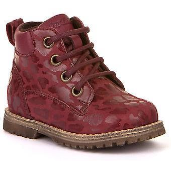 Froddo Girls G2110085-1 Lace Boots Bordeaux